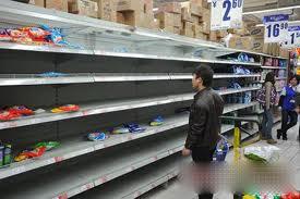 doomsday panic buying empty shelf