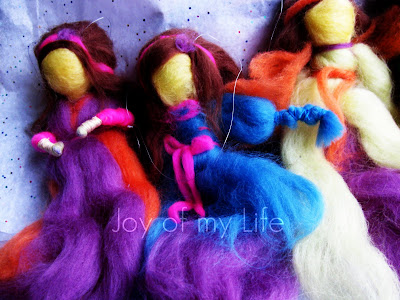 Needle and Wet Felted Fairy dolls (Waldorf-style)