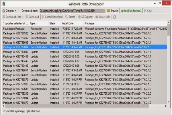 برنامج مجاني لإكتشاف وإصلاح مشكلات وأخطاء النظام والاوفيس Windows Hotfix Downloader 6.8