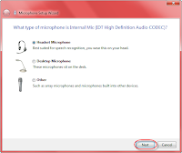 Windows microphone configuration