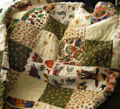 The sewn in summer fall quilt springs off to Winters