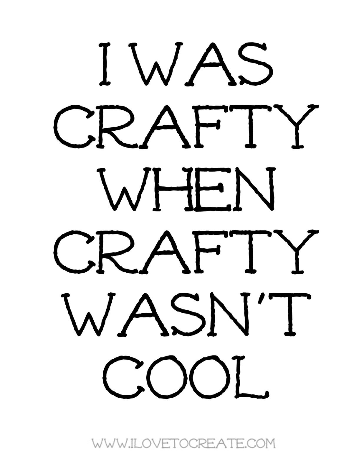 Crafty Ilovetocreate Blog I Was Crafty When Crafty Wasnt Cool Canvas