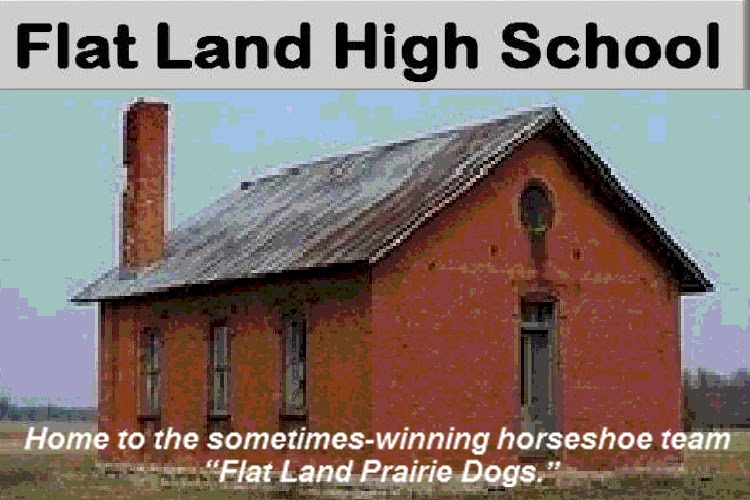 Beware of Falling Bricks at Flat Land High School