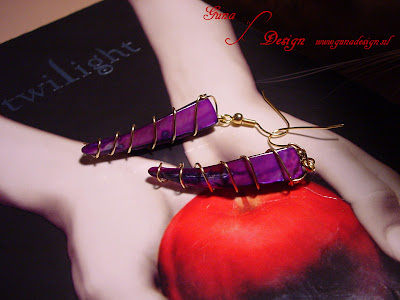 Gunadesign Tutorial Twilight Saga:Earrings mother of pearl, wire