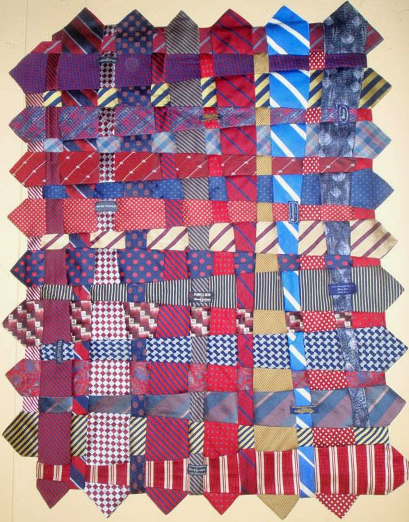 QUILTING KRAZY: Krazy Tie Quilt - The last of the Ties