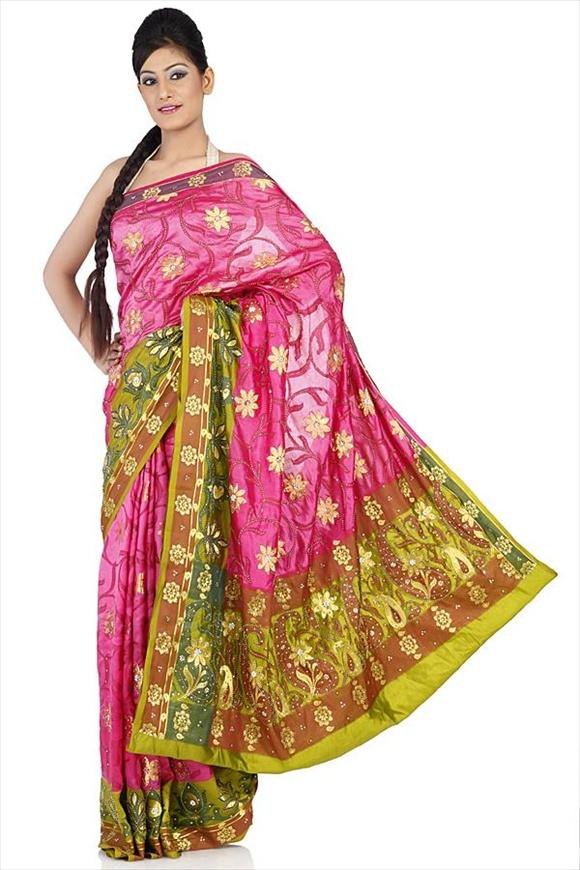 Sorbet Pink Kattan Silk Banarasi Saree
