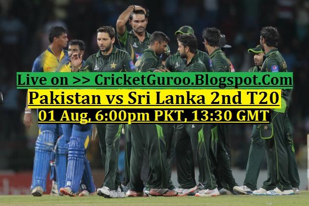 Pakistan vs Sri lanka 2nd T20 Live Streaming