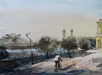 Watercolour: Angin Pagi Putrajaya