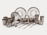 Buy Klassic Vimal Stainless Steel Dinner Set – 30 Pcs at Rs. 517 only, after cashback