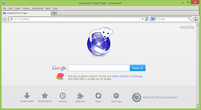 Iceweasel browser on Raspberry Pi
