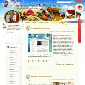 Traditional Weddings in South Korea Blogger Template. free download template blogspot
