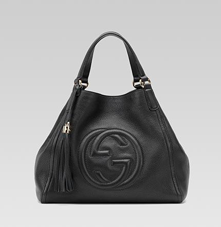 Gucci Soho Large Shoulder Bag Light Gold Hardware