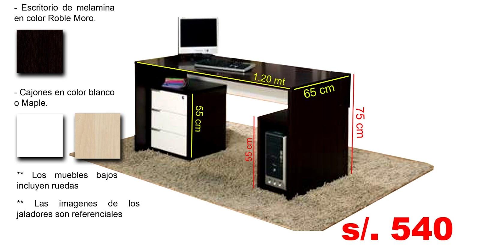 Escritorio de melamina masisa muebles sadeg for Medidas ergonomicas de un escritorio
