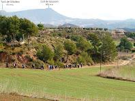 Vista del camí de tornada des de Can Sabater