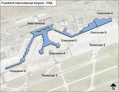 Basic printable Frankfurt airport map