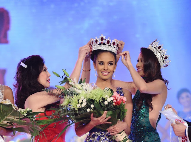 AND TIARAS.Actress Megan Young Crowned Miss World Philippines 2013