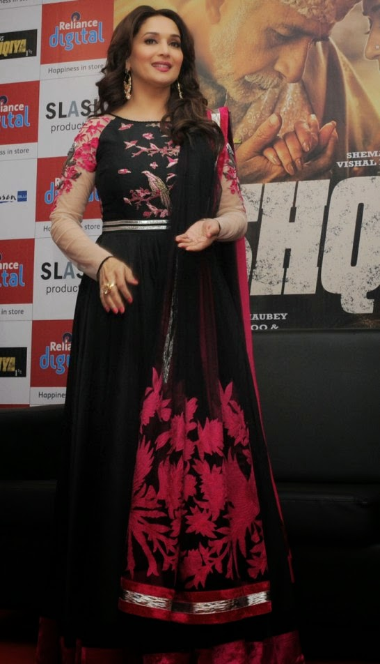 IBollywood Actress Madhuri Dixit in Ahmedabad Gujarat for Dedh Ishqiya Movie Promotion