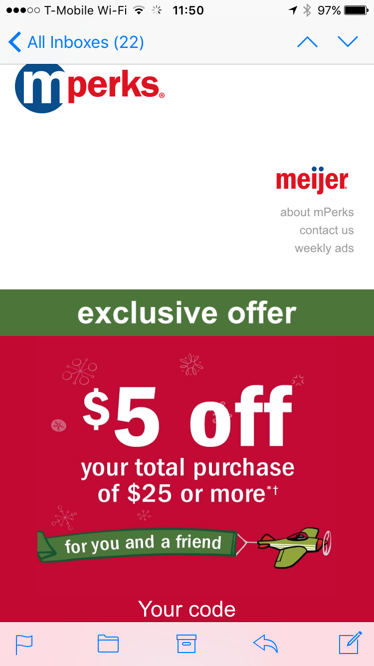 meijer keep an eye out for this email a single coupon