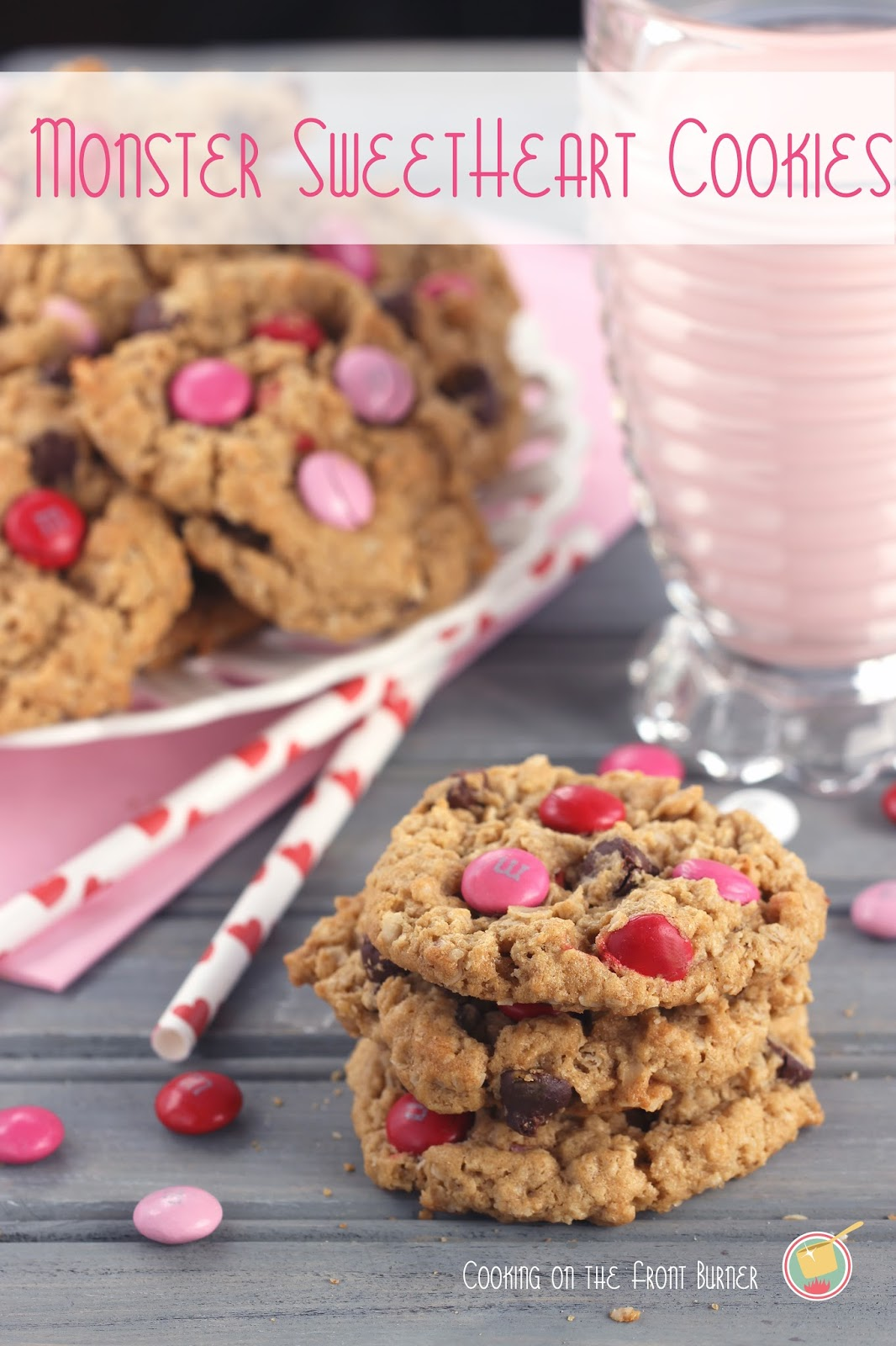 Monster Sweetheart Cookies | Cooking on the Front Burner #valentinecookies #monstercookies