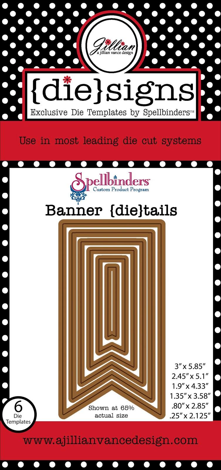 Banner die-tails die set
