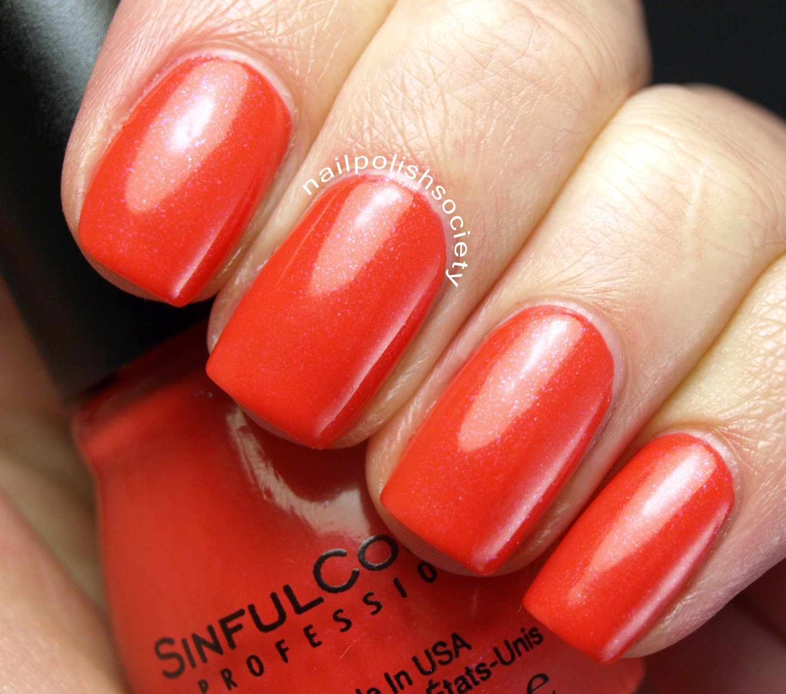 Nail Polish Society: NOTD: Sinful Colors Coral Riff