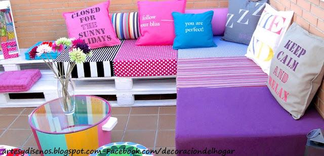 MUEBLES COLORIDOS PARA AMBIENTES by artesydisenos.blogspot.com