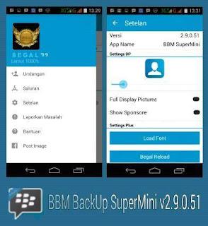 BBM Mod SizeMini Clone Versi 2.9.0.51 Apk