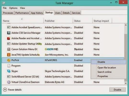 Cara Mengatur Aplikasi Startup di Windows 8