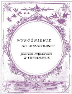 Wyróżnienie od Małopolanek