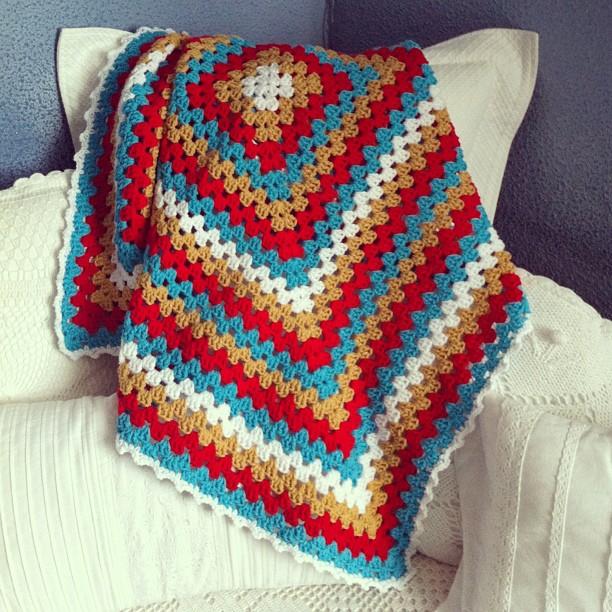 Giant Granny Square Baby Blanket - The Crochet Factor