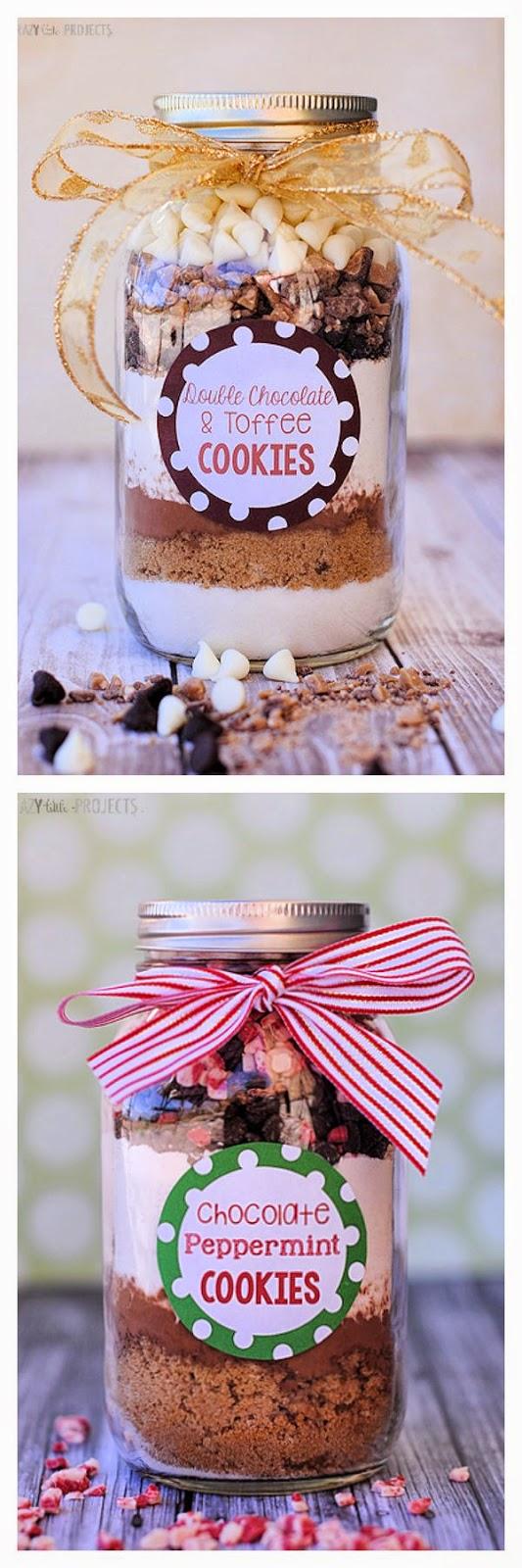 cookies mason jar gift recipes