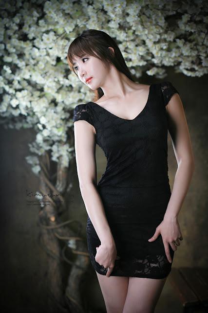 3 Yeon Da Bin in Black-Very cute asian girl - girlcute4u.blogspot.com