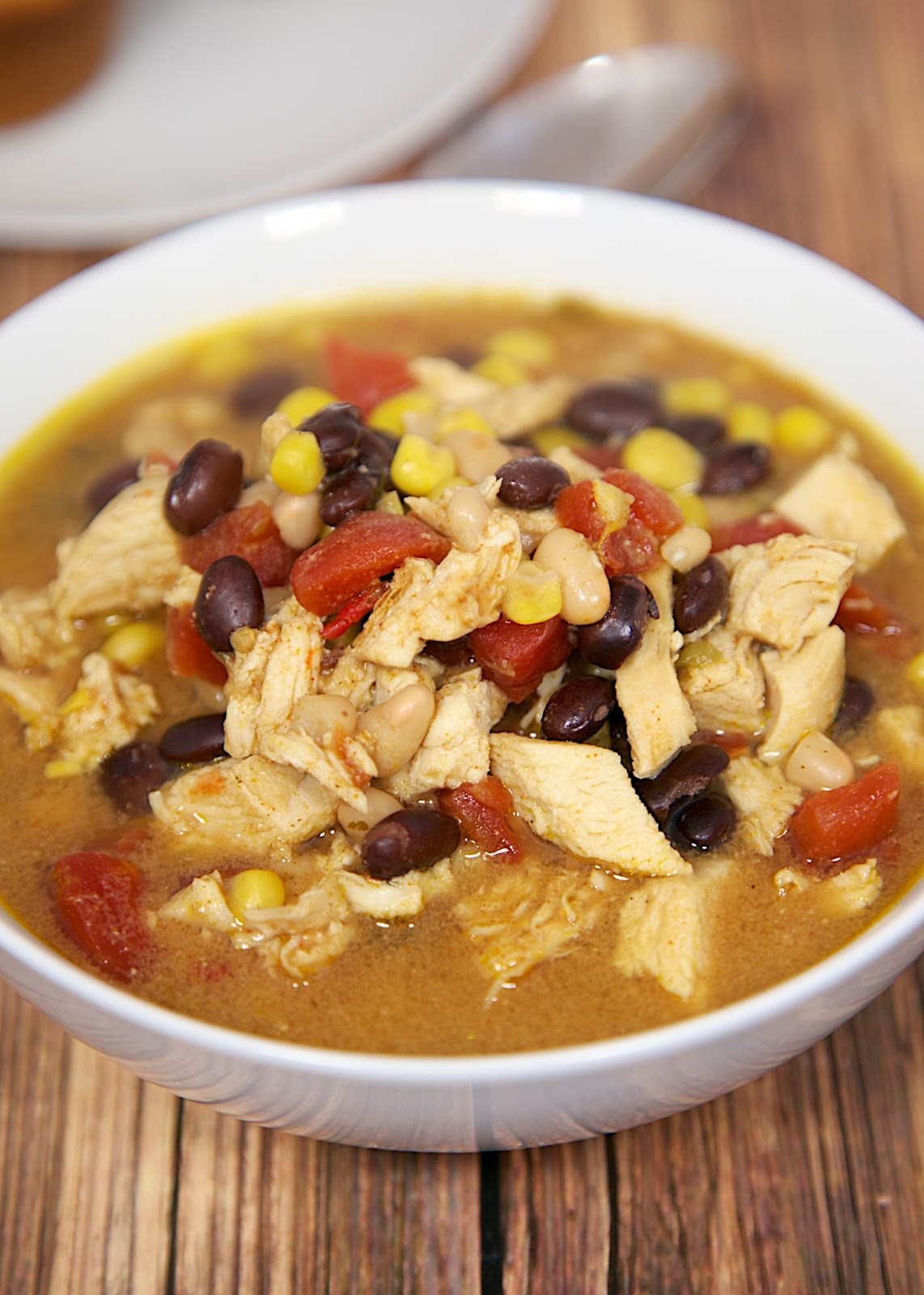 Slow Cooker Chicken Taco Soup | Plain Chicken