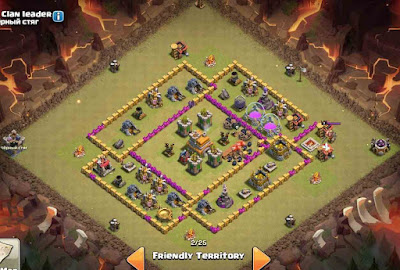 TH7 War Base Anti Dragon + 3 Stars