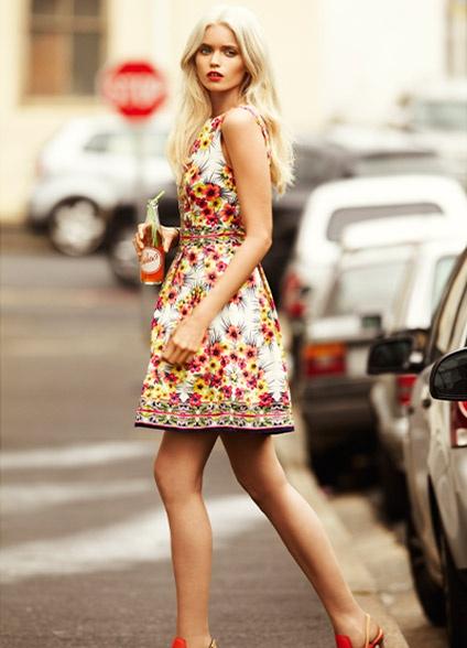 %C3%87i%C3%A7ekli Yazl%C4%B1k Elbise 5 2013 Çiçekli elbise modelleri