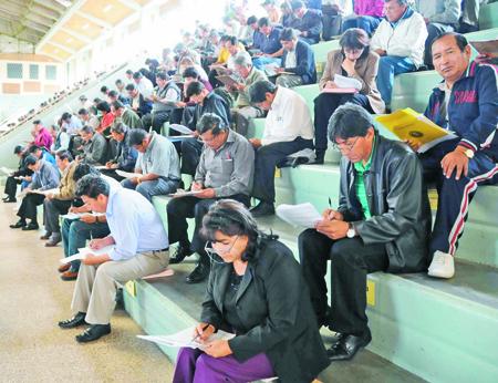 Notas del examen de ascenso de maestros 2013 bolivia