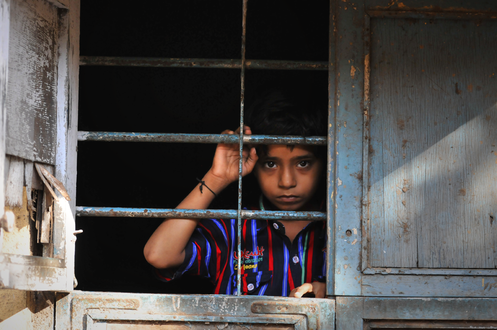Boy in Dharavi in India.