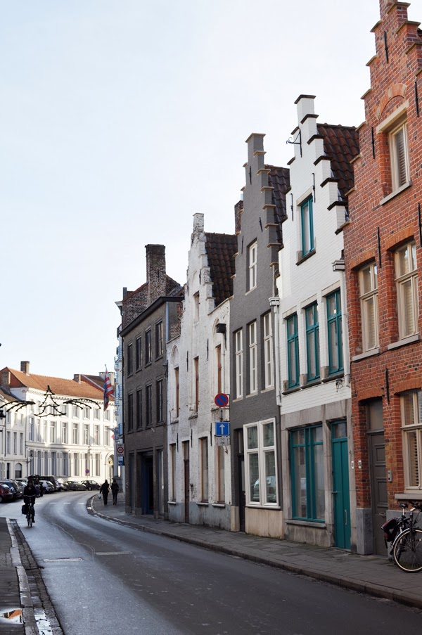 quaint streets in Bruges, Belgium.