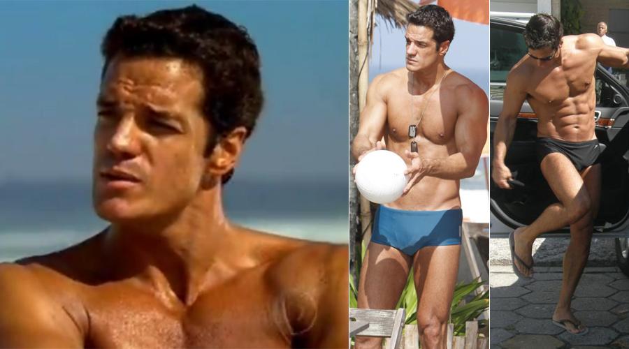 Carlos Machado sem camisa na praia