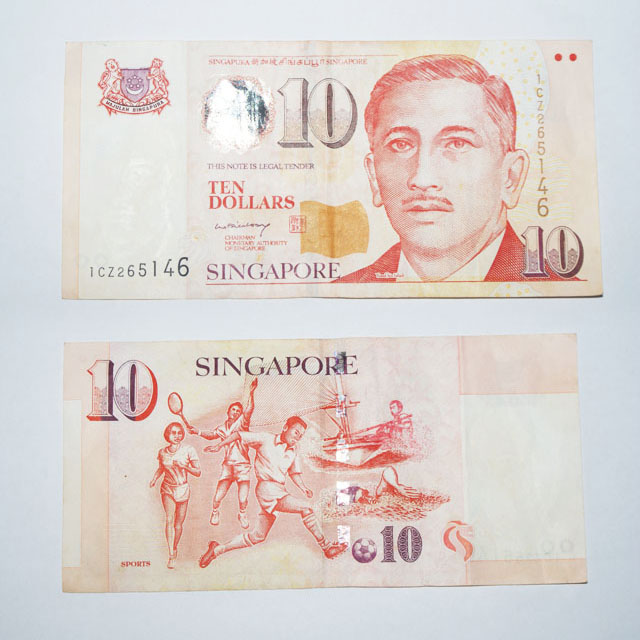 10 Dollar Singapore portrait series
