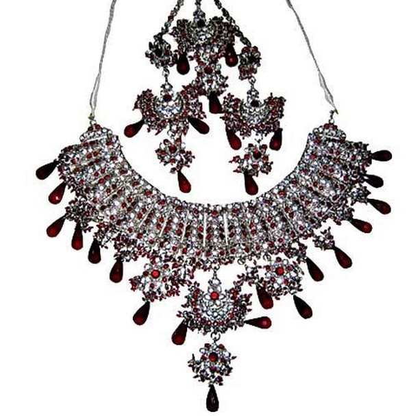 Hesiod Indian Wedding Jewelry Sets Gold Color Full Crystal: Indian Bridal Jewelry Set 2012-13