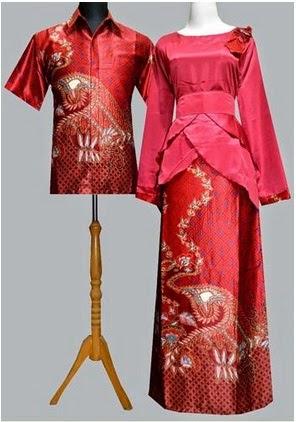 Gambar Gamis Batik Kombinasi