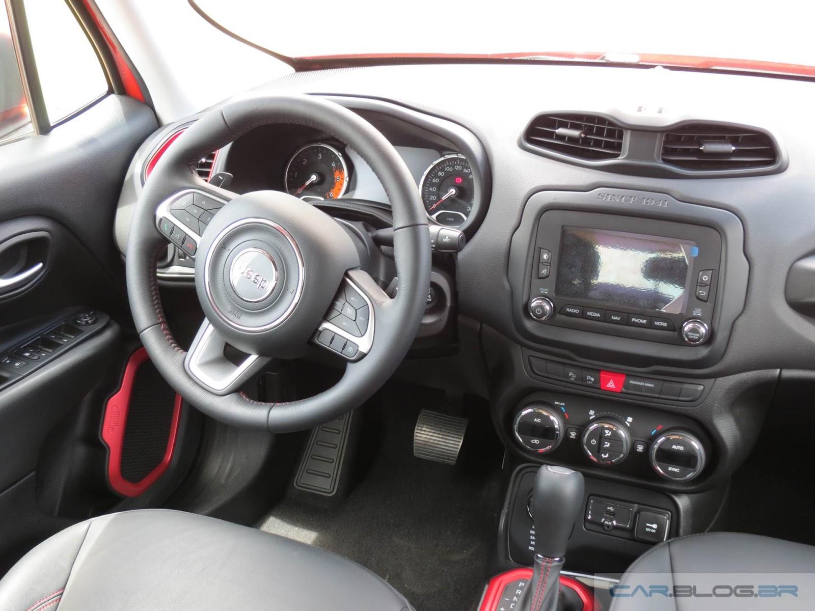 Honda hr v x jeep renegade especifica es e comparativo for Interior jeep renegade