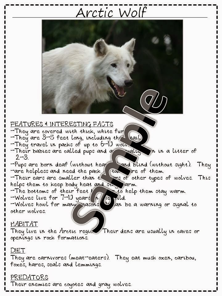 http://www.teacherspayteachers.com/Product/Arctic-Animal-Research-Pages-for-Early-Readers-24-Animals-435193