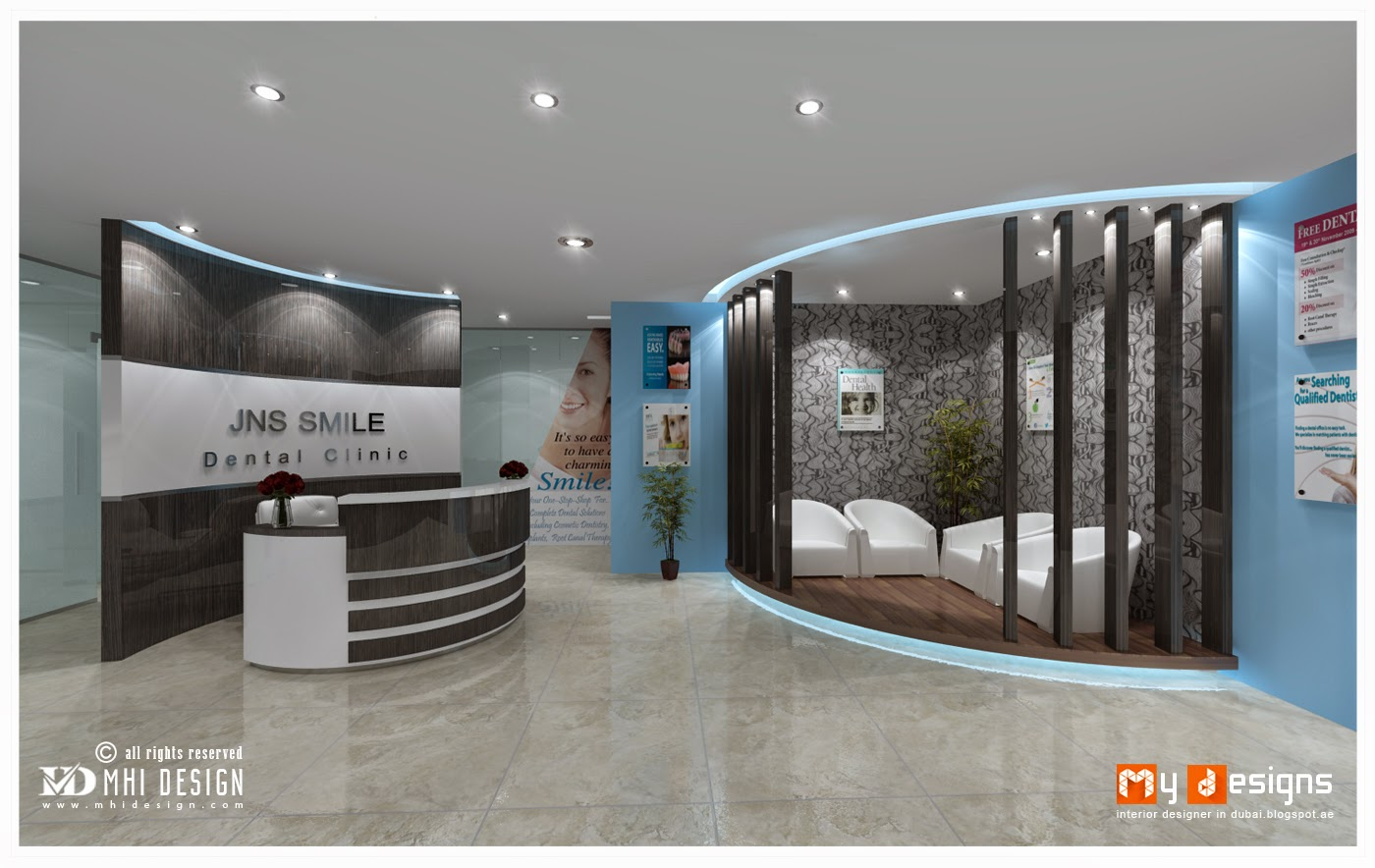 dental clinic interior design proposal for jns smile dental clinic one