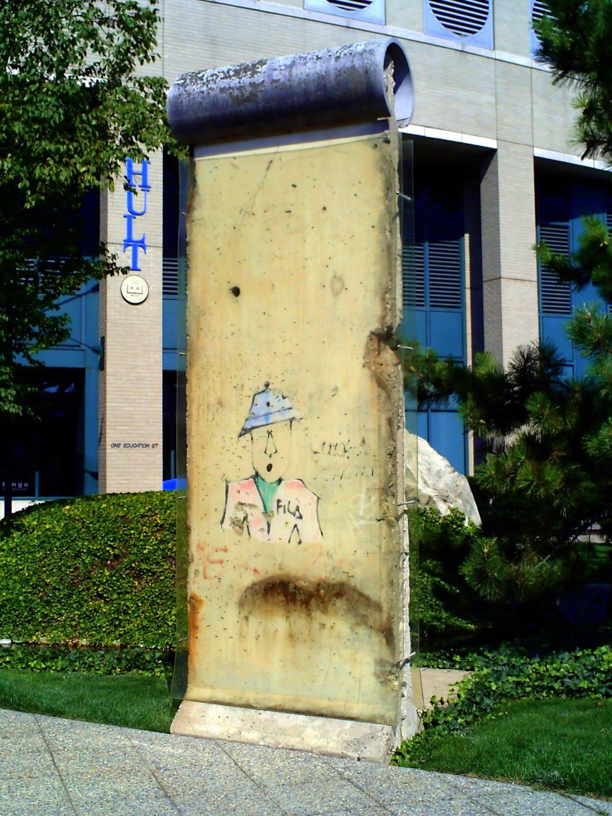 berlin wall, segment, ef education, cambridge, shadow