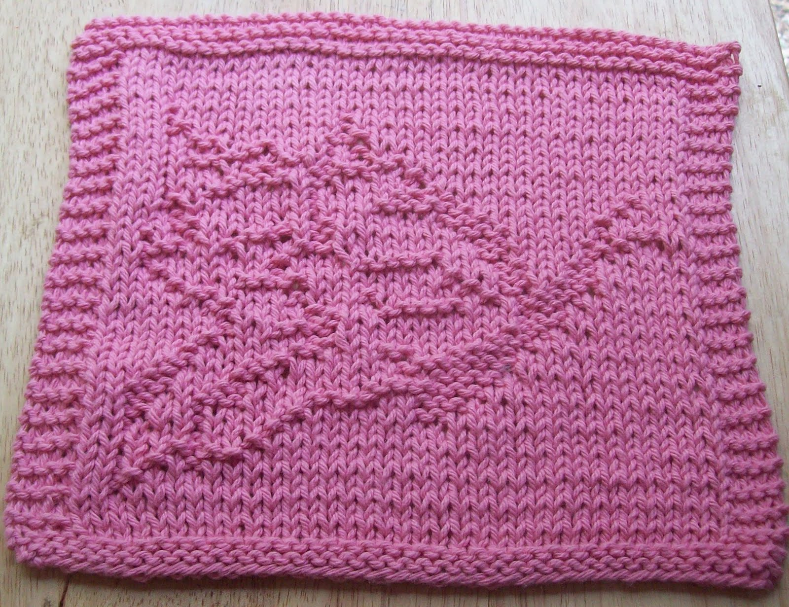 Pattern Knitted Dishcloth : DigKnitty Designs: Another Butterfly Knit Dishcloth Pattern