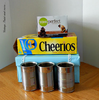 Vintage, Paint and more... empty boxes to make a diy dish organizer