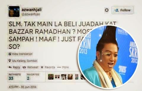 Azwan Ali Mengamuk Makanan Bazar Ramadhan Rasa Sampah