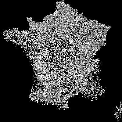 Localisation des communes en France métropolitaines